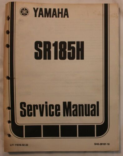 m Original 1981 Yamaha SR185H Motorcycle Service Manual