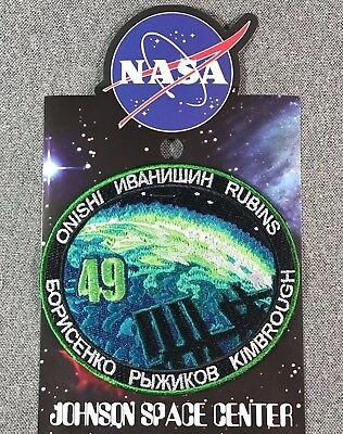 NASA EXPEDITION 49 MISSION PATCH Official Authentic SPACE 4.2in USA for sale  Shipping to Canada