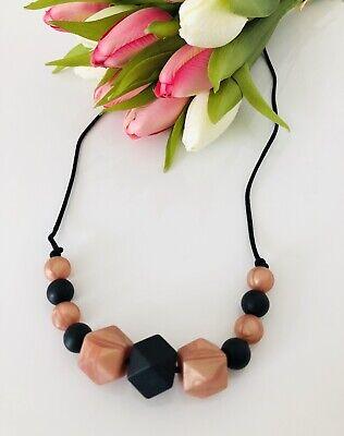 Silicone Teething necklace Nursing Breastfeeding BPA free Rose Gold And