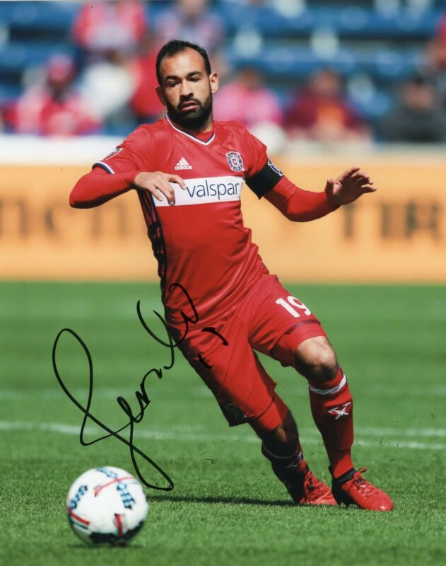 Juninho signed 8x10 Photo w/COA Chicago Fire MLS Soccer