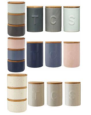 Fenwick Kitchen Canisters Set Modern Tea Coffee Sugar Stackable Food Storage Pot