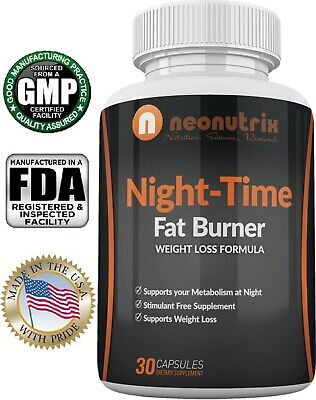 Night Time Fat Burner Weight Loss Pills for Men and Women by Neonutrix