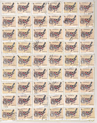 Zebra Finch Bird Postage Stamps Australia 1978 Used Lot x 54