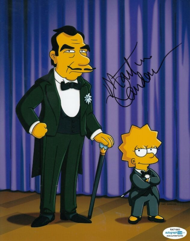 MARTIN LANDAU signed (THE SIMPSONS) TV Show 8X10 photo *Great Raymondo* ACOA #1