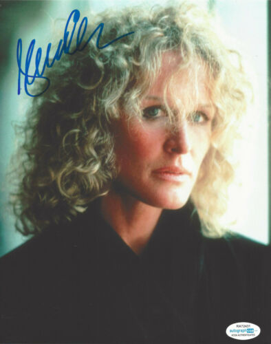 GLENN CLOSE SIGNED AUTHENTIC 'FATAL ATTRACTION' 8X10 PHOTO ACOA ACTRESS PROOF