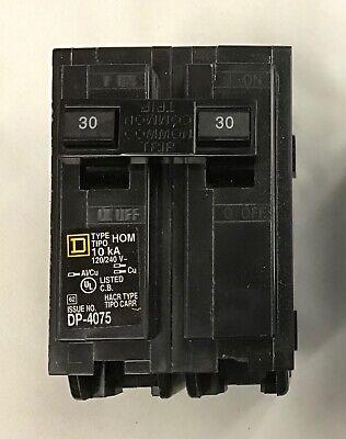 Double 2 Pole 30 Amp Square D Breaker Hom 10ka Dp-4075 - New No Box