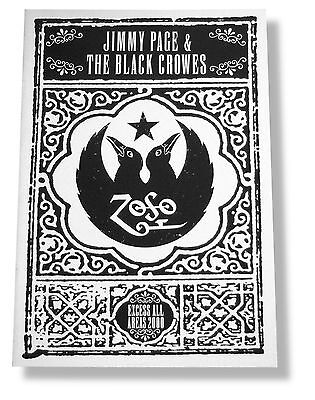 JIMMY PAGE & BLACK CROWES EXCESS ALL AREAS 2000 TOUR BOOK MINT NEW NOS