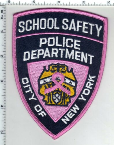 Breast Cancer Awareness New York Police School Safety Uniform Patch new for 2019