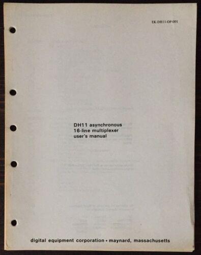 Digital DEC PDP-11 DH11 Asynchronous 16-Line Multiplexer User