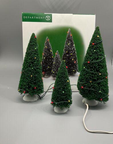 Dept 56 Twinkling Lit Trees set 3 52823 Village Accessories adapter Department