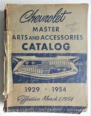 Chevrolet master parts and accessories catalog 1929-1954 Chevy