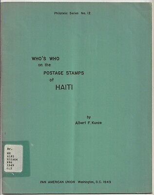 Haiti, WHO'S WHO on the POSTAGE STAMPS of HAITI, 1949 book