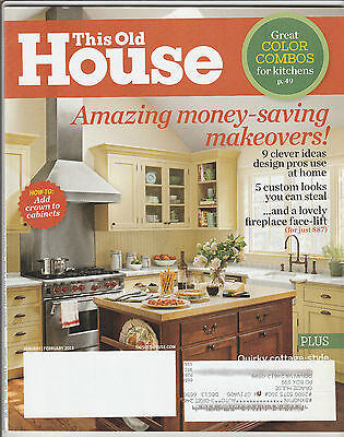 This Old House Magazine January February 2013 Back Issue Free Shipping