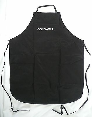 GOLDWELL CHEMICAL APRON Black Spa / Salon Apron With Pockets 244701STA >NEW<