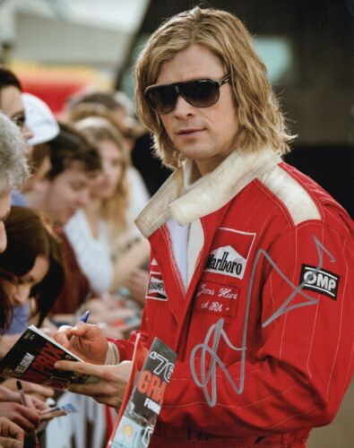 CHRIS HEMSWORTH Hand Signed RUSH Racing 11x14 Photo In Person Autograph