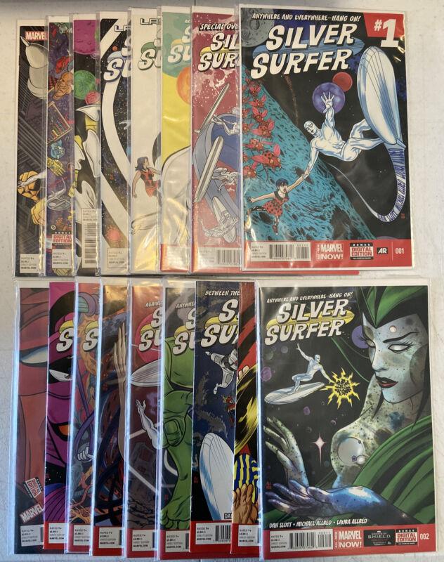 Silver Surfer #1-15 Complete Set Comic Lot Full Run Mike Allred Marvel 2014 Plus
