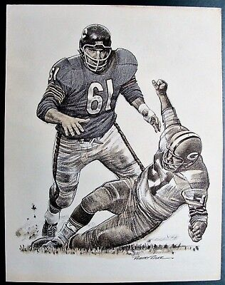 """1963 BILL GEORGE NFL """"BEST PLAYS OF THE YEAR"""" VINTAGE PRINT BY ROBERT RIGER"""