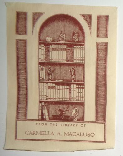 Carmella A. Macaluso - Ex Libris Bookplate