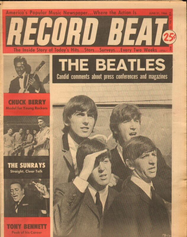 Record Beat Paper-June 21 1966 The Beatles-----2