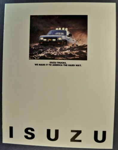 1981 Isuzu Pickup Truck Catalog Brochure 4x4 Gas Diesel Excellent Original 81