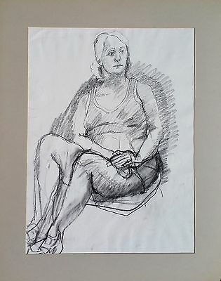 """Michael Steiner, """"Woman Series #6"""", Charcoal, 23.5""""h x 17.5""""w image"""