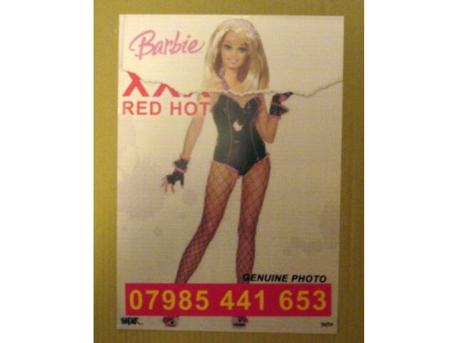 IMBUE   RIP OFF  SOLD OUT RUN OF 30, SIGNED  STREET PASTE UP  BARBIE