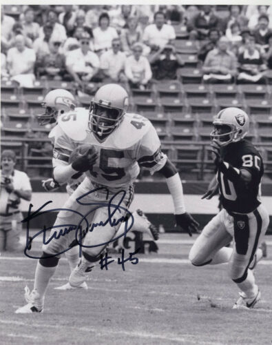 Kenny Easley signed 8x10 Photo, Seahawks HOF (a)