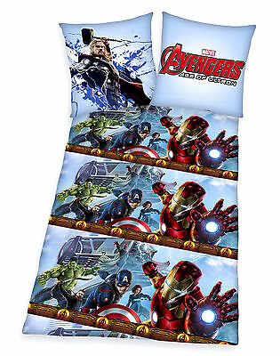 Avengers Bettwäsche Hulk Thor Ironman Captain Amerika 80x80 135x200 BW RV Neu