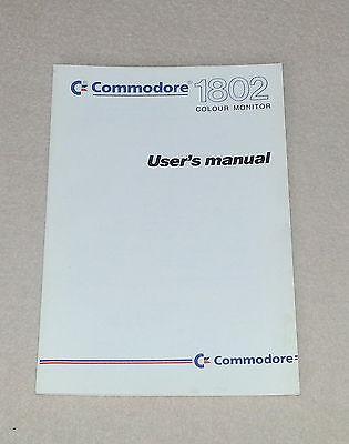Commodore C64 C 64 MONITOR 1802 Handbuch Gebrauchsanweisung PC Buch Computer gebraucht kaufen  Deutschland