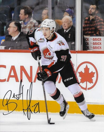 Moose Jaw Warriors Brett Howden Autographed Signed 8x10 WHL Photo COA A