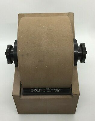 Vintage Rotary Brown Metal Rolodex Card File Model 1753 With Cards 20b