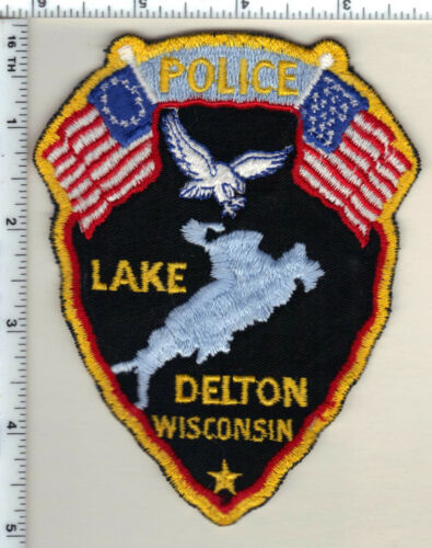 Lake Delton Police (Wisconsin) 1st Issue Uniform Take-Off Shoulder Patch 1991