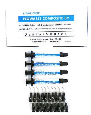 Light Cure Flowable Composite 4 Syringe Kit Shade B2