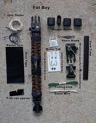 Paracord survival bracelet Fat Boy bugout edc international