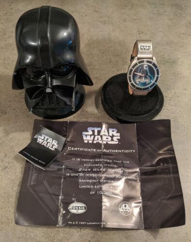 1997 Star Wars 20th Anniversary Darth Vader FOSSIL WATCH LI-1625 Limited #4216