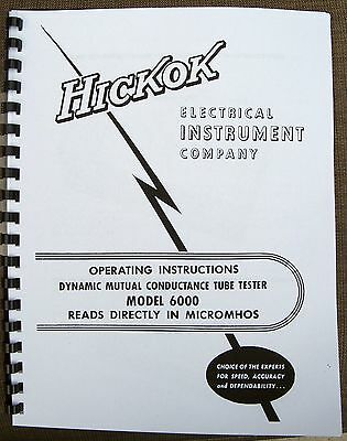 Usa Hickok 6000 Tube Tester Manual