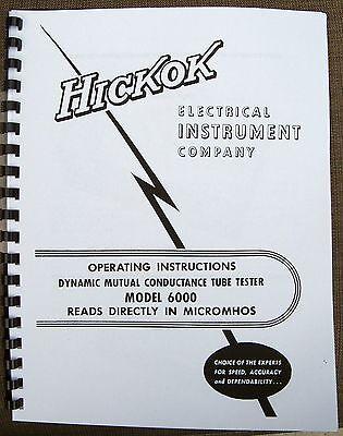Usa Hickok 6000 Tube Tester Manual