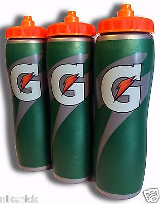 3 PACK of 32oz Insulated Gatorade Water Bottles with Gator S