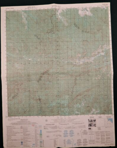 MAP - VIETNAM - BACH MA - RECON RADIO RELAY SITE - 6541-II