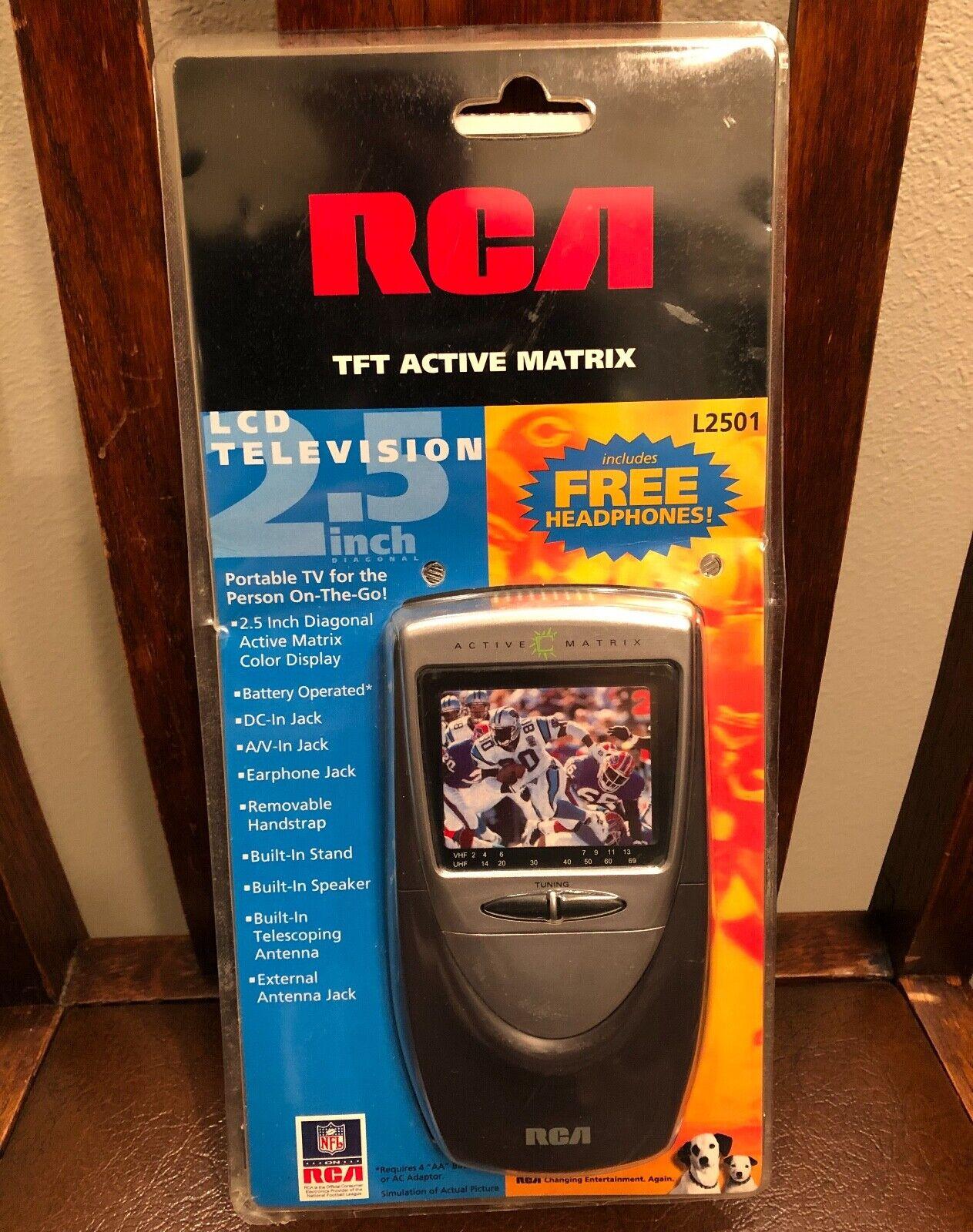 """1999 RCA TFT Active Matrix LCD 2.5"""" Portable Color Television (L2501) - NIP"""