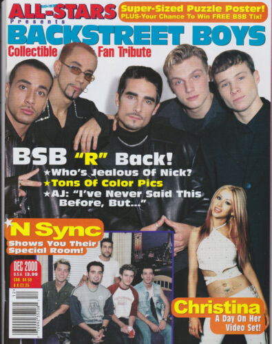 NSYNC - BACKSTREET BOYS - Teen Beat All-Stars Magazine - December 2000