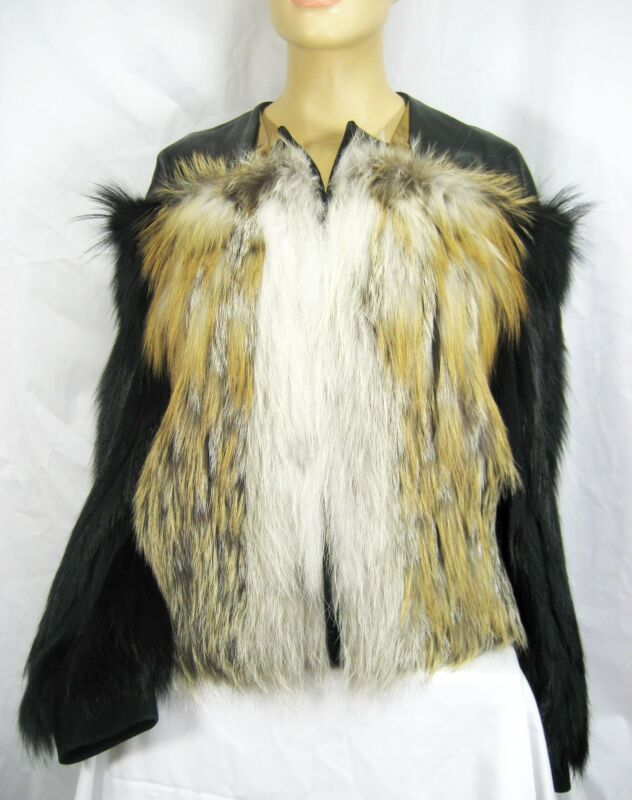 Sale!!! $13,000 Gucci 4 6 38 Fur Leather Winter Coat Jacket Women Lady Gift Nwt