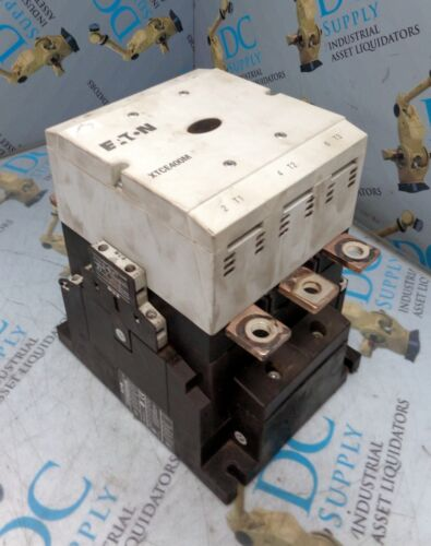 EATON XTC(E)(S)400M 24-48 VDC 3 POLE CONTACTOR W XTCEXSBN11 AUXILIARY CONTACT #1