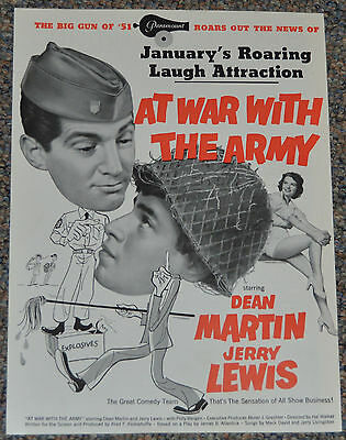 AT WAR WITH THE ARMY 1950 ORIGINAL 9x12 MOVIE TRADE AD! MARTIN & LEWIS COMEDY!