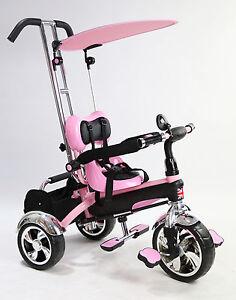Kids Trike Tricycle 3 Wheel 4 In 1 Ride Bike Parent Handle