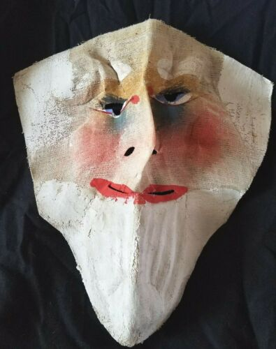 c1890 HALLOWEEN MASK Hand-Made Painted UNCLE SAM 4th July School Play CREEPY