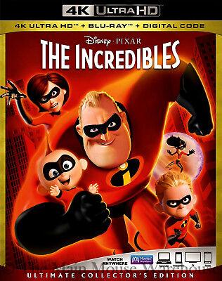 Disney Pixar Superhero Family The Incredibles 4K Ultra HD Blu-ray & Digital Copy