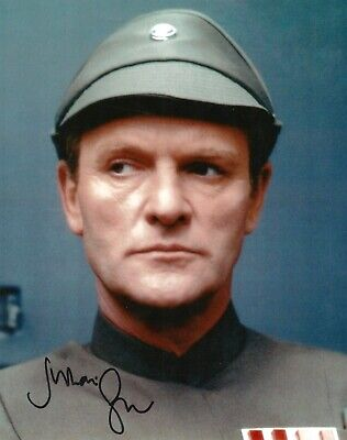 "Star Wars Julian Glover Hand Signed 8x10"" Photo COA Maximilian Veers Autograph"