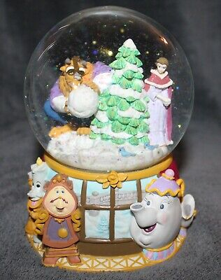 Enesco Musical Beauty & the Beast Winter Holiday Snow Water Globe Minuet No 1