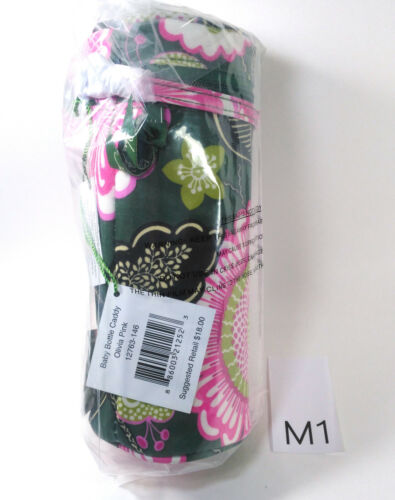 Vera Bradley Baby Bottle Caddy OLIVIA PINK Case Holder NWT Exact Item M1